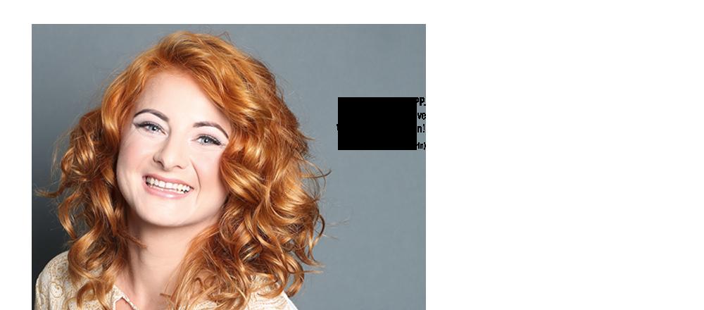 Hübsche Frau mit Klipp Haarschnitt
